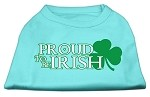 Proud to be Irish Screen Print Shirt Aqua XL